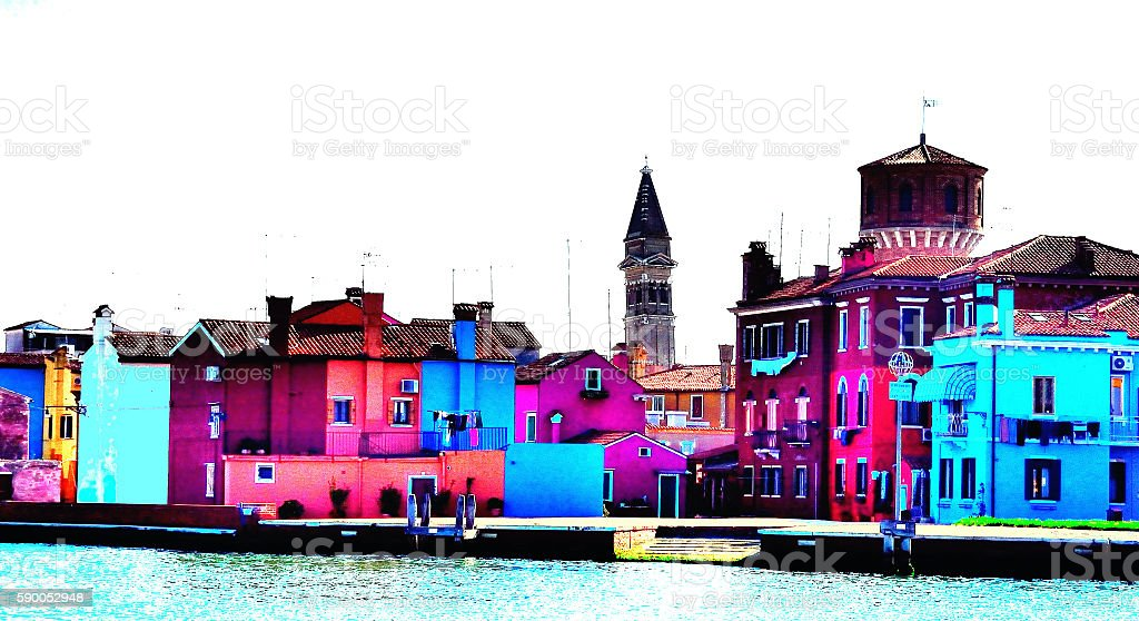 Burano III stock photo