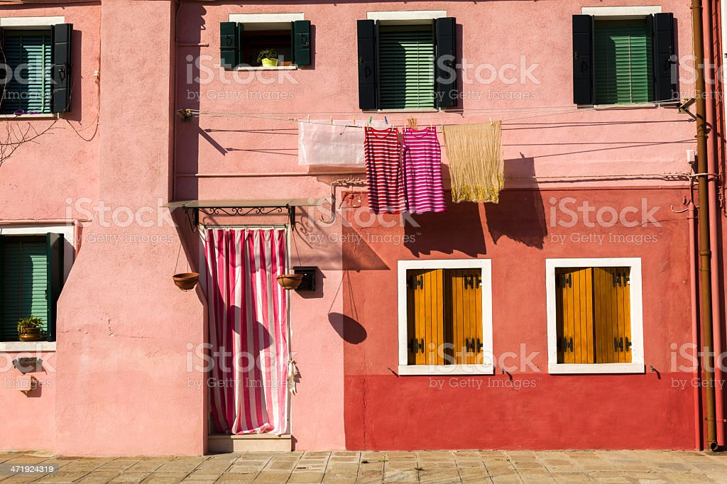 Burano island building royalty-free stock photo