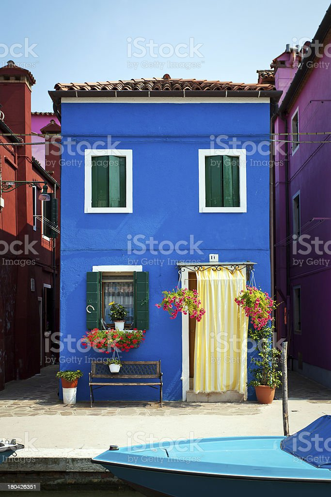 Burano Island, Italy royalty-free stock photo