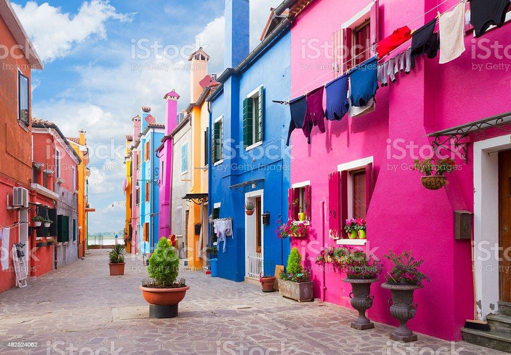 Burano island, Venice, Italy stock photo