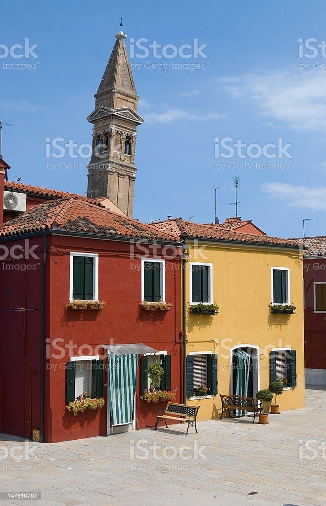 Burano (Venezia), piazza stock photo