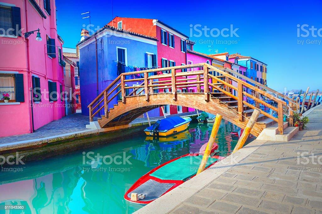 Burano, Venice Italy stock photo