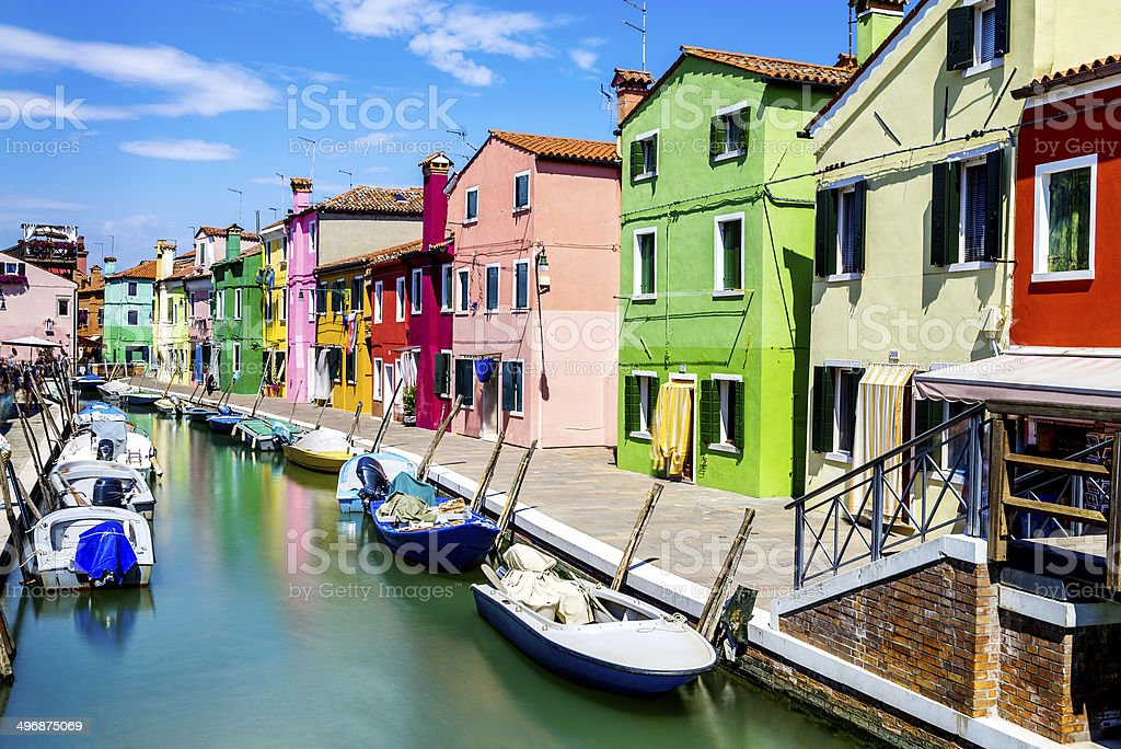 Burano village near Venise stock photo