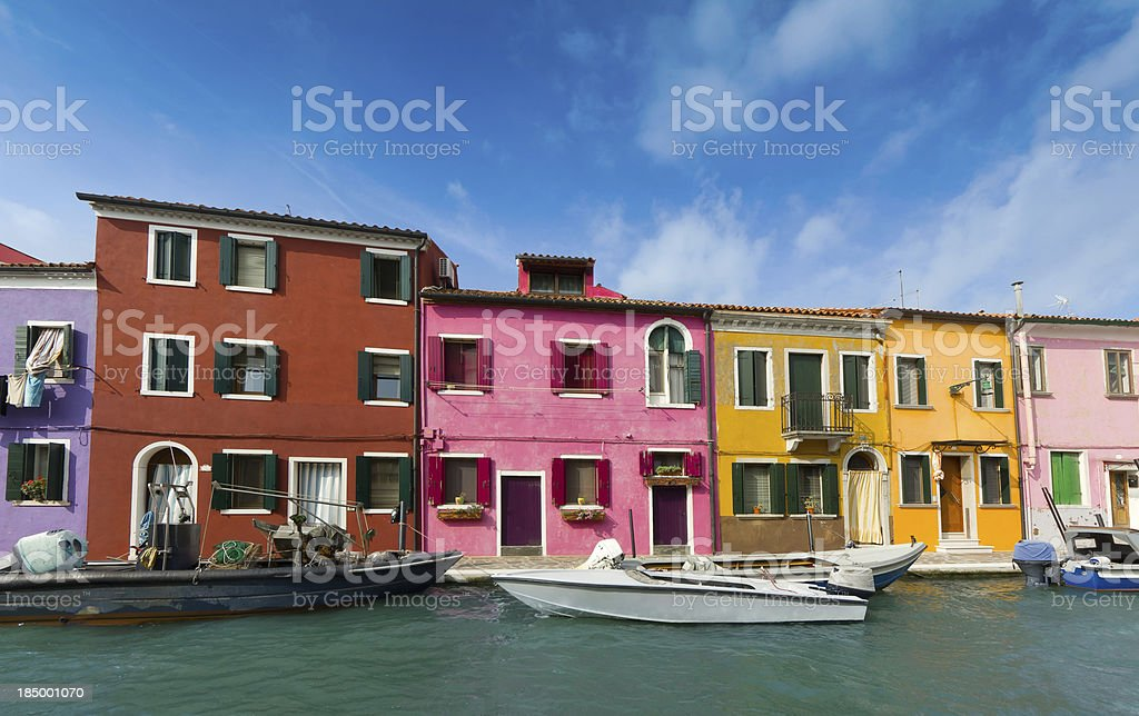 Burano's Colored Houses - Venice royalty-free stock photo
