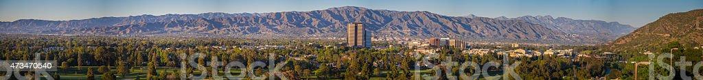 Burbank, California Panorama stock photo