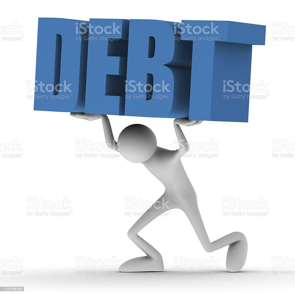 Burden of debt royalty-free stock photo