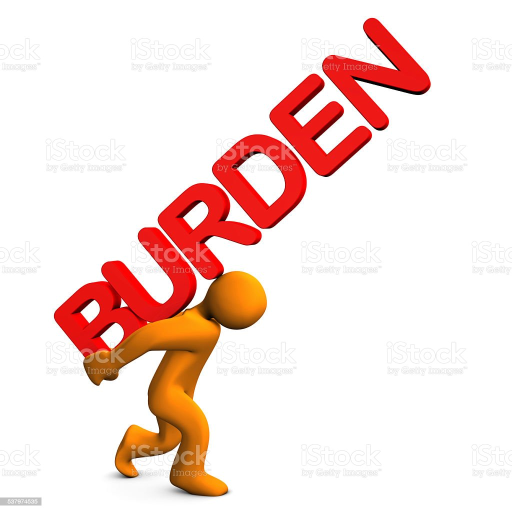 Burden stock photo