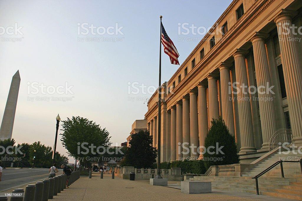 Bureau of Engraving and Printing in Washington DC (USA) royalty-free stock photo