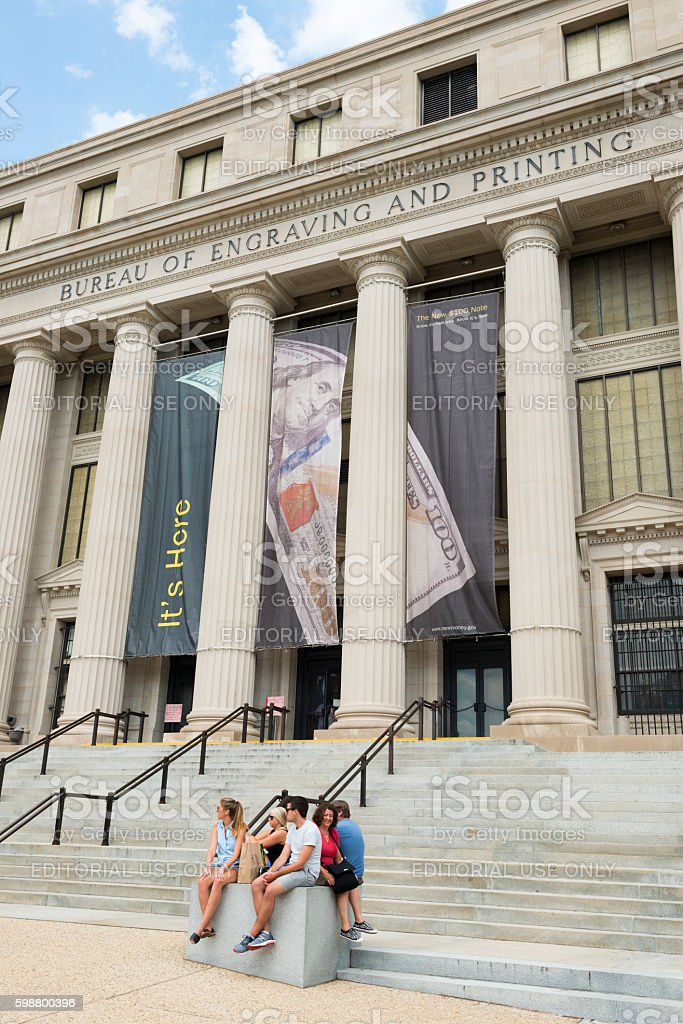 Bureau of Printing and Engraving in Washington DC stock photo