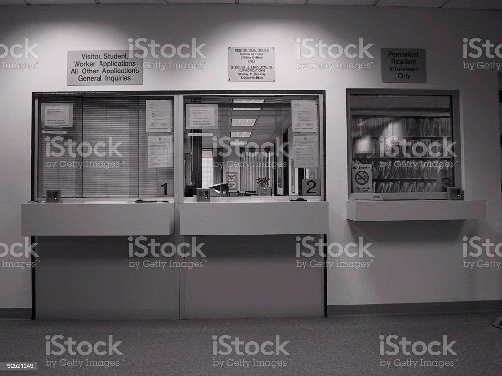 Bureaucracy Booth royalty-free stock photo