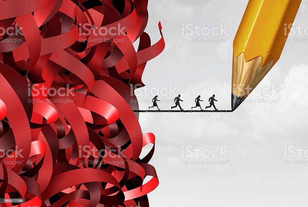 Bureaucracy Management Success stock photo