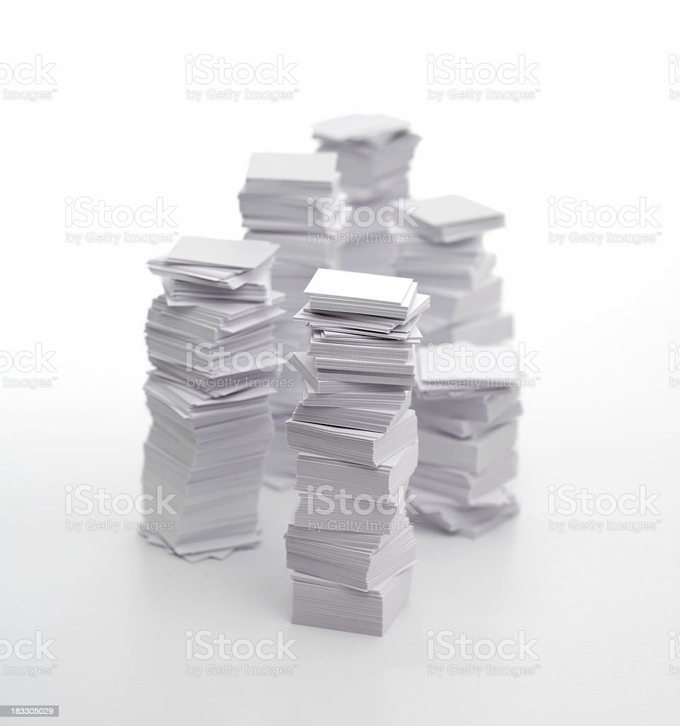 Bureaucracy (pile of paper) royalty-free stock photo