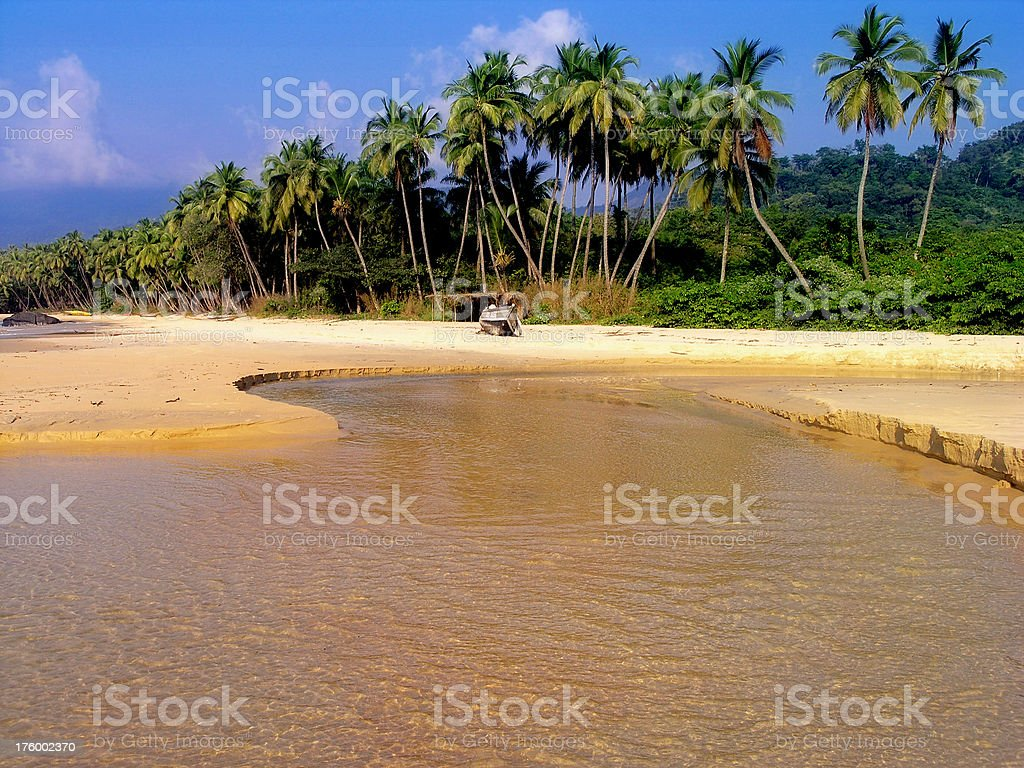 Bureh Beach stock photo