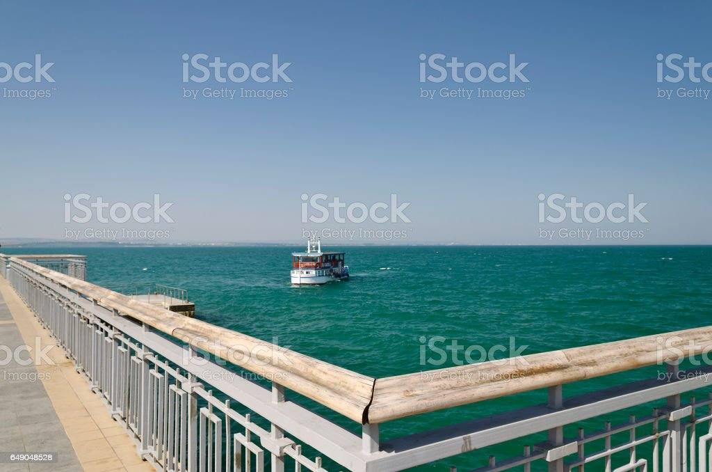 Burgas beach in Bulgaria on the black sea stock photo