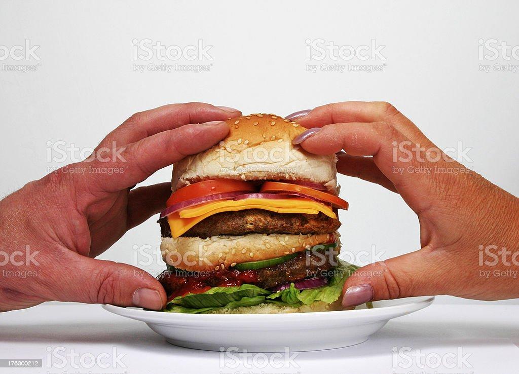 Burger 4 stock photo