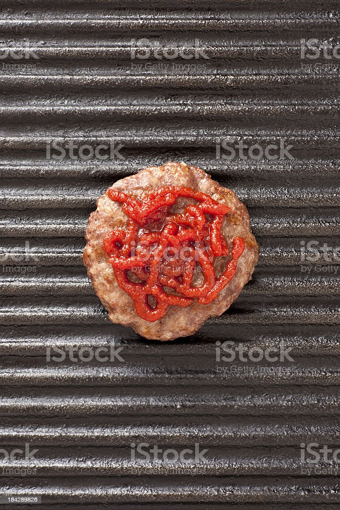 Burger and ketchup royalty-free stock photo