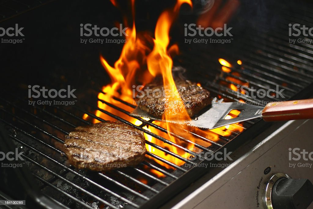 Burger Barbecue stock photo