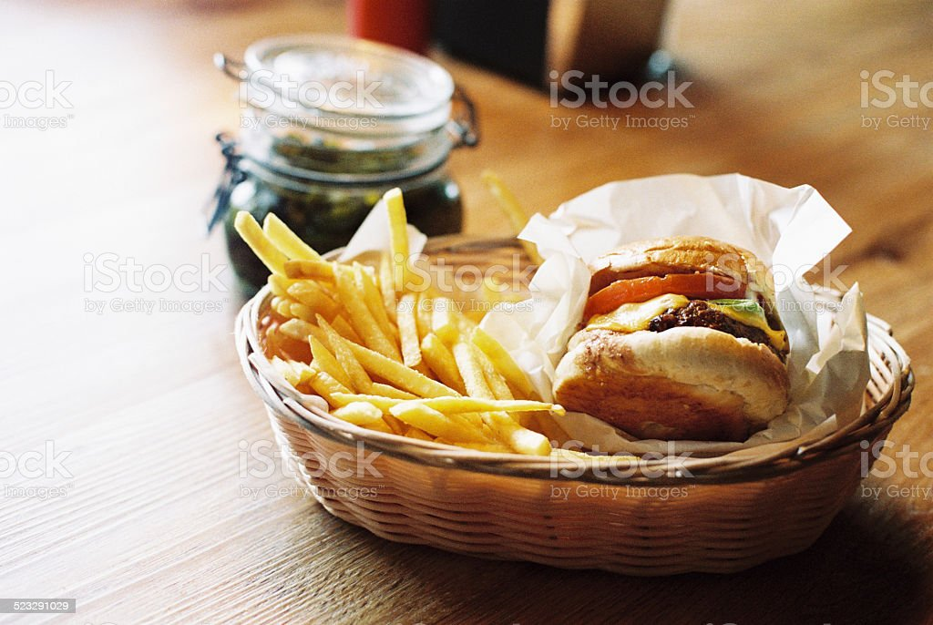 Burger for Lunch stock photo
