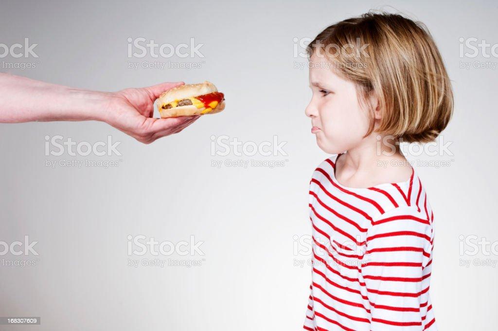 Burger Girl stock photo