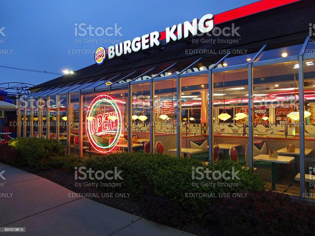 Burger King at Twilight stock photo