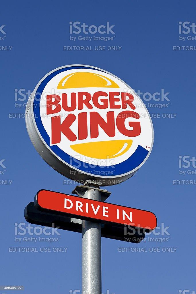 Burger King Drive-in Outdoor Billboard stock photo