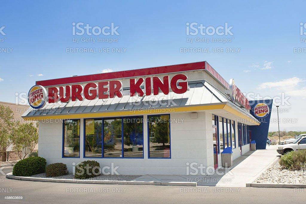 Burger King Fast Food Reastaurant stock photo