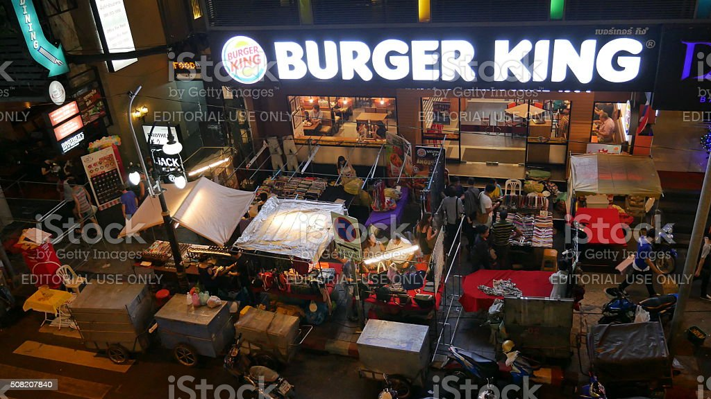 Burger King in Asia stock photo