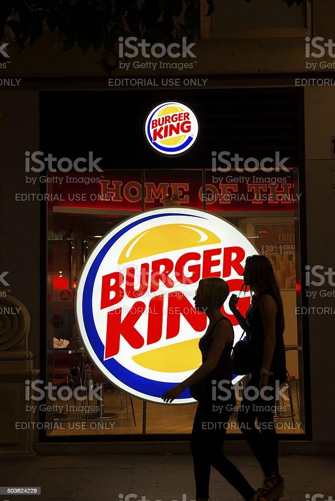 Burger King in Spain stock photo