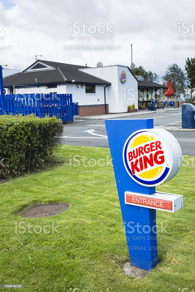 Burger King Restaurant and Drive-Through, Glasgow stock photo