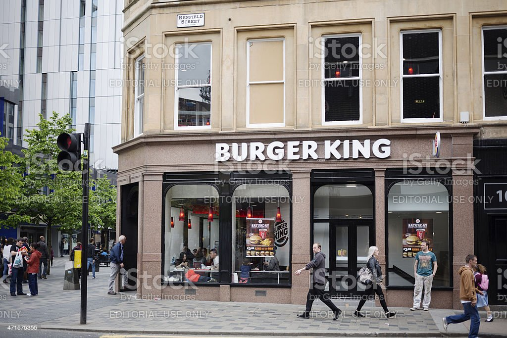 Burger King Restaurant, Glasgow royalty-free stock photo