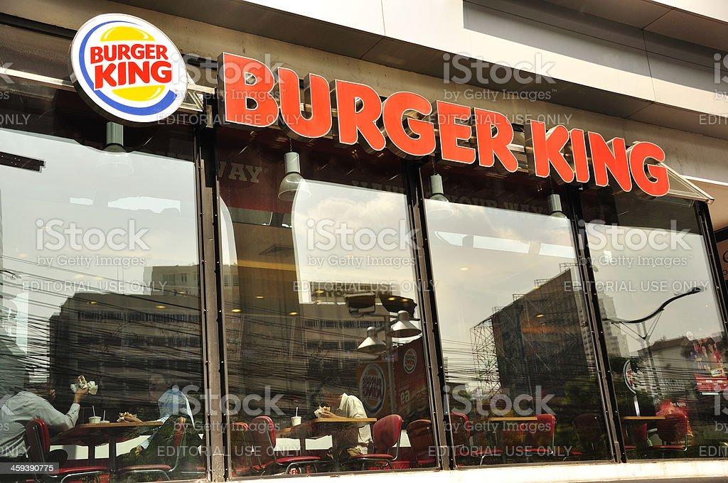 Burger King restaurant royalty-free stock photo