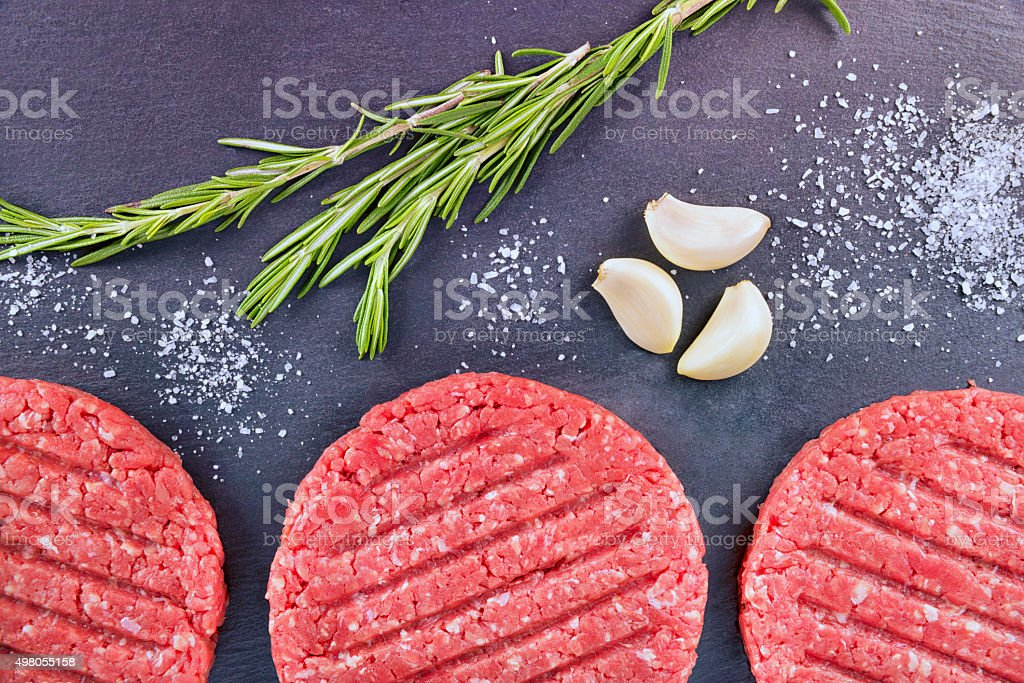 Burger patties stock photo