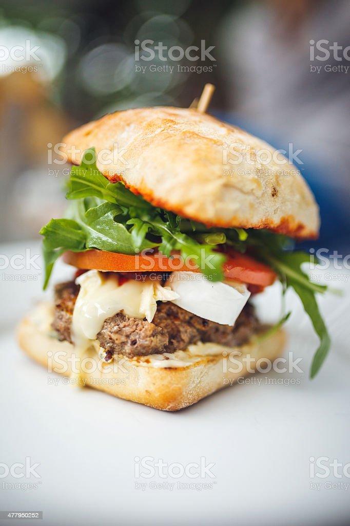 Burger stock photo