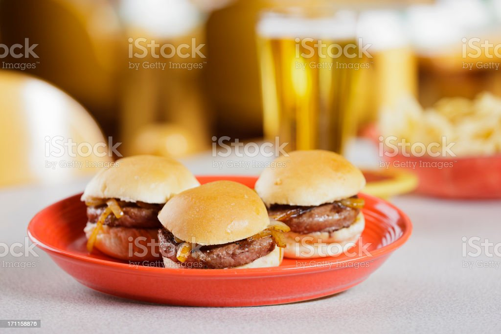 Burger Sliders royalty-free stock photo