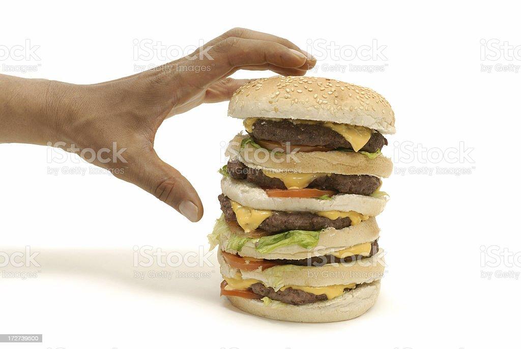 burger snatcher royalty-free stock photo