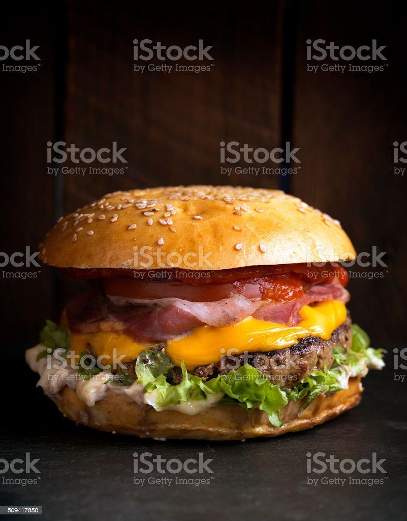 Burger time stock photo