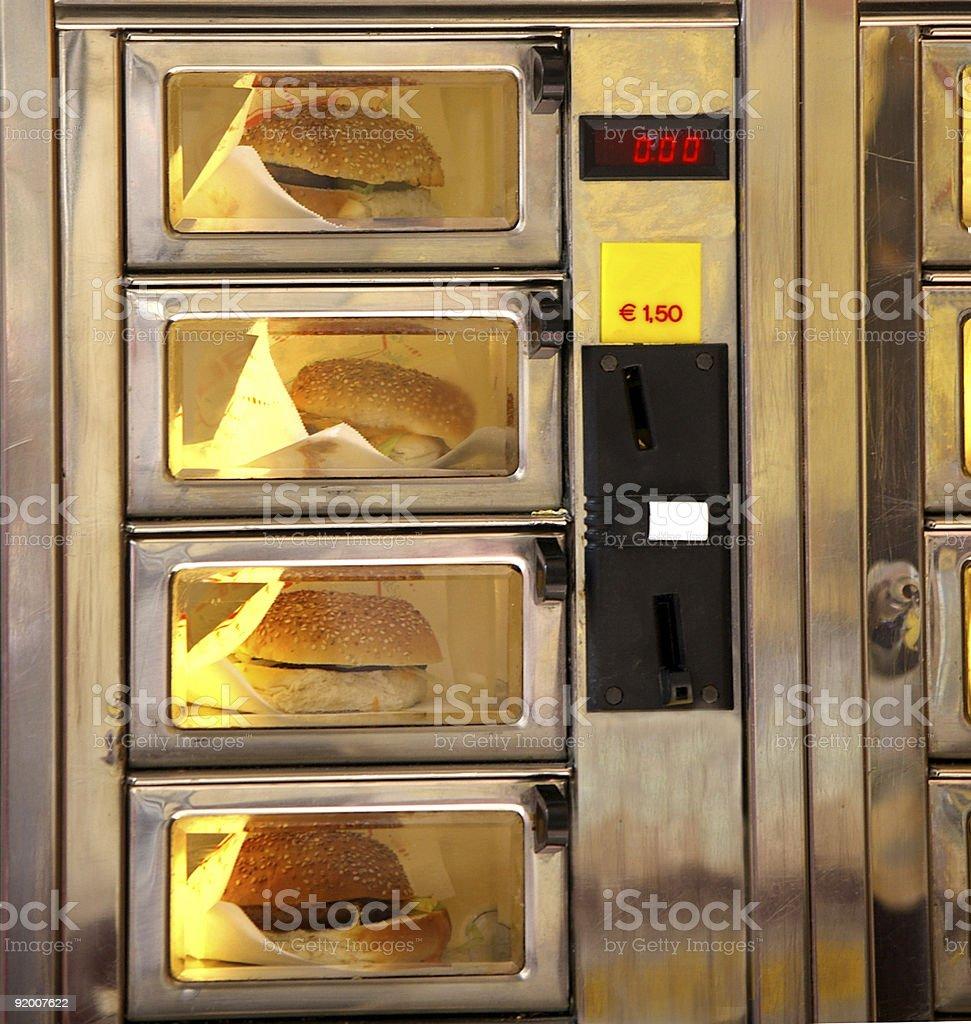 Burger Vending Machine royalty-free stock photo