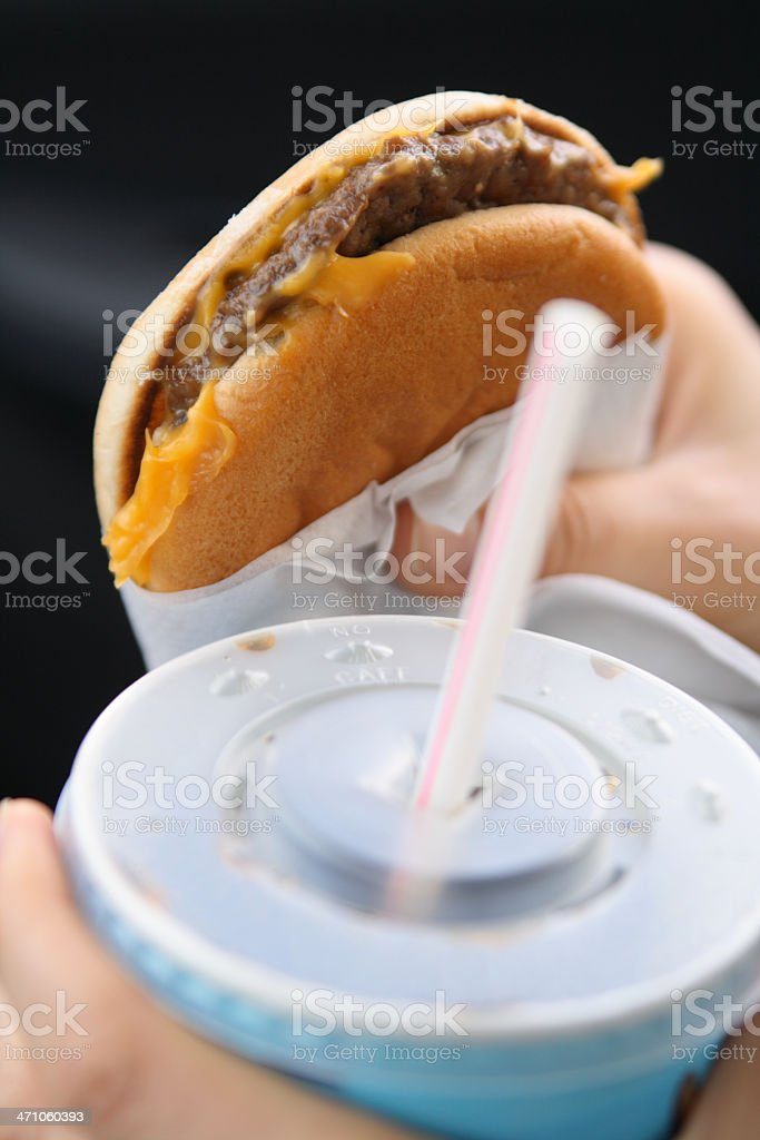 Burger with cola royalty-free stock photo