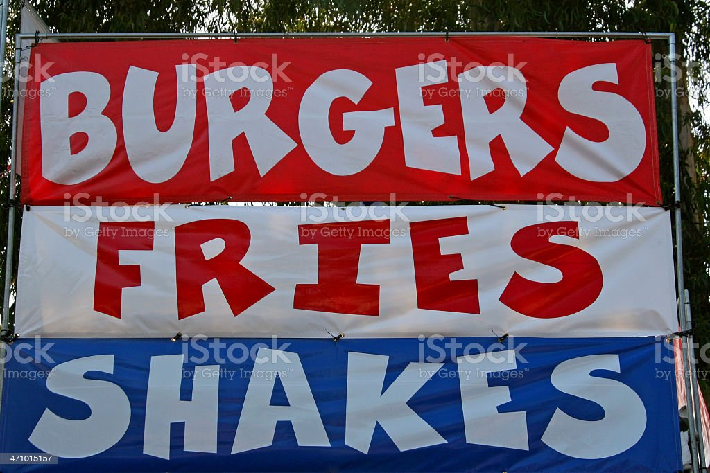 Burgers, Fries, Shakes royalty-free stock photo