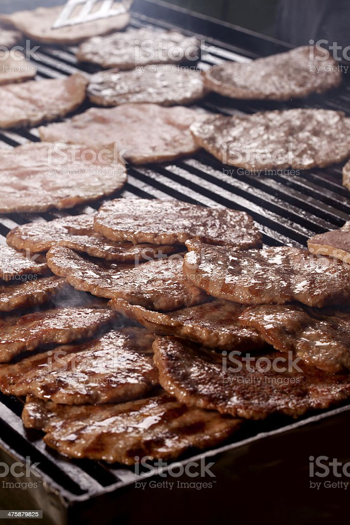 Burgers on the Grill royalty-free stock photo