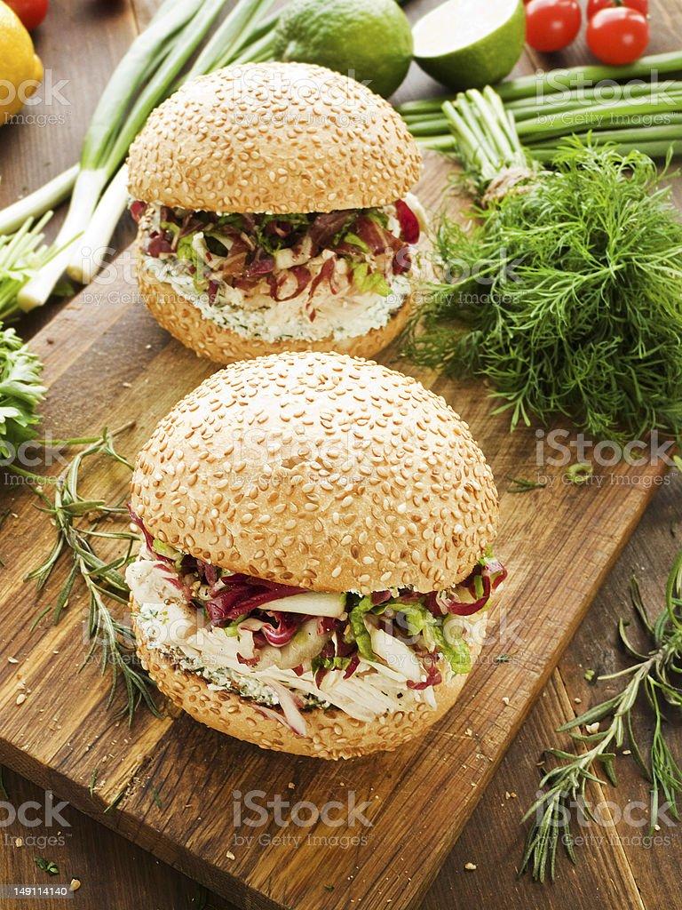 Burgers stock photo