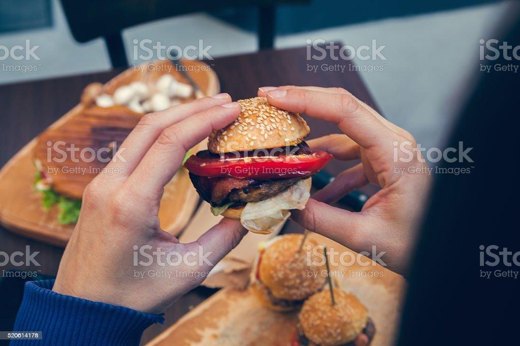 Burgers Sliders stock photo