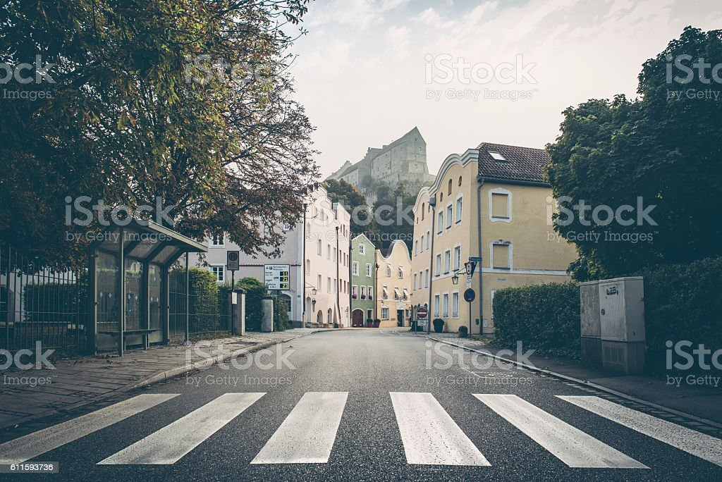 Burghausen in altötting germany early morning stock photo