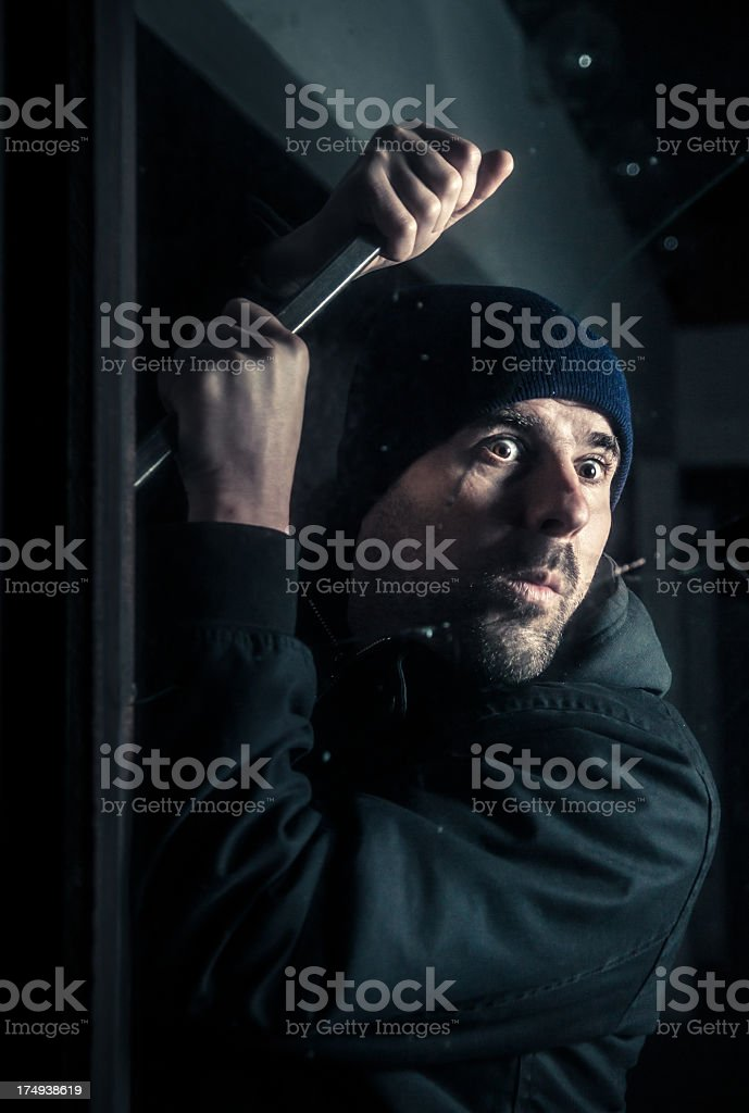 Burglar by night royalty-free stock photo