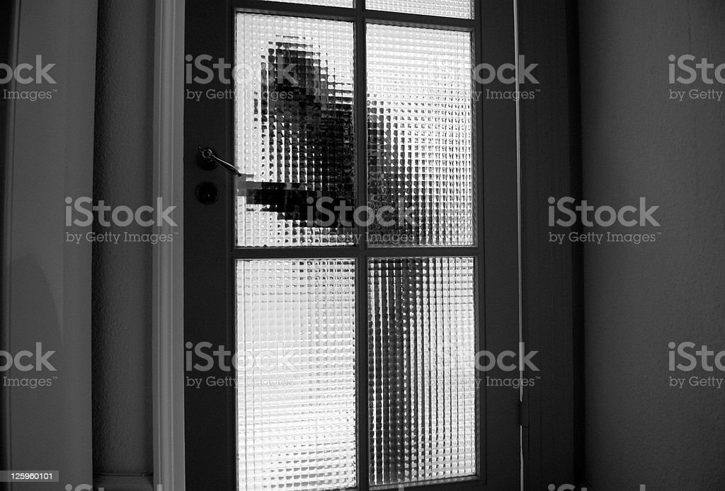 Burglar Entry stock photo