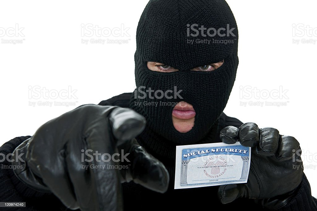 Burglar stealing ID royalty-free stock photo