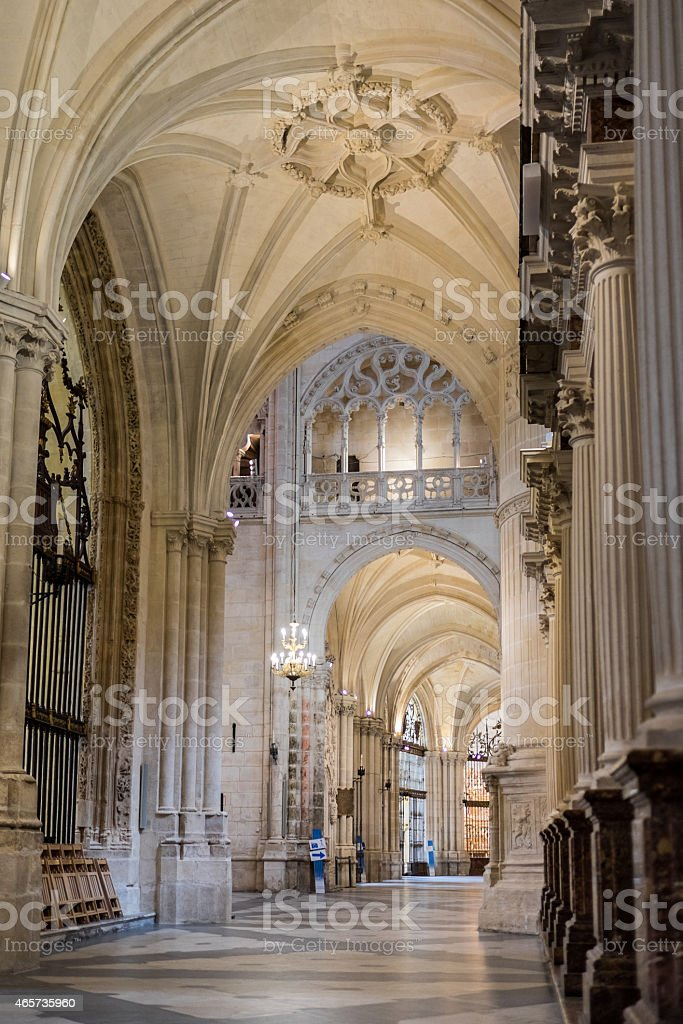 Burgos Cathedral Corridor Vertical stock photo