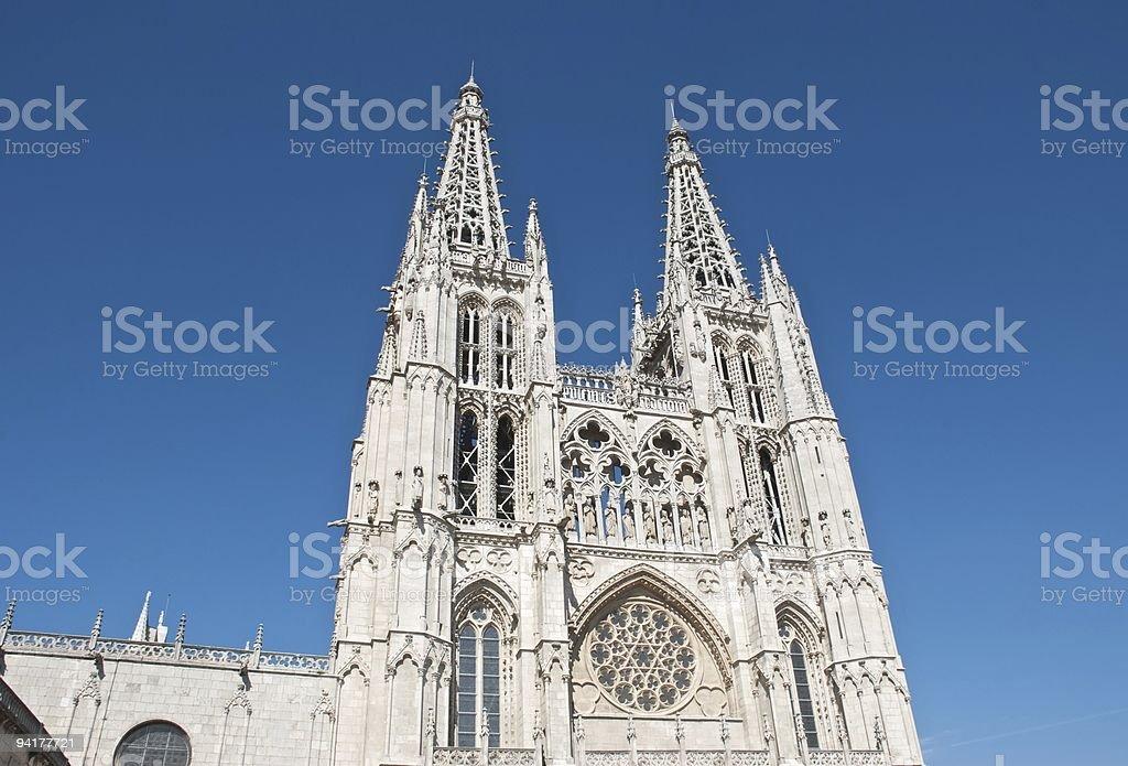 Burgos Cathedral - Facade (Spain) stock photo