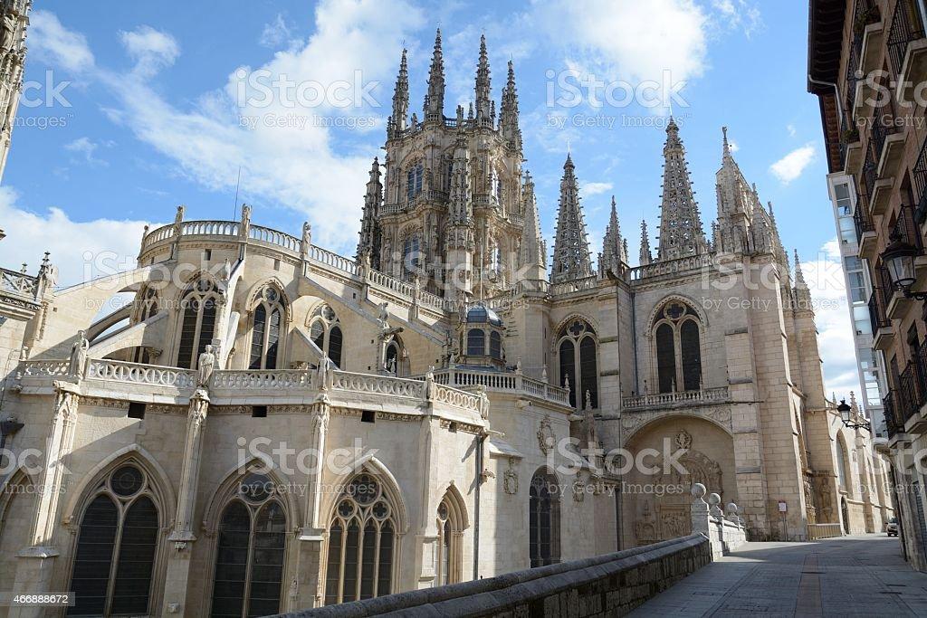 Burgos, Cathedral stock photo