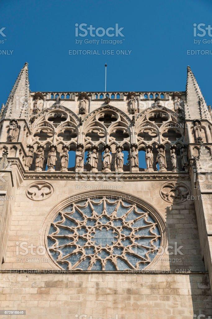 Burgos (Spain): cathedral stock photo